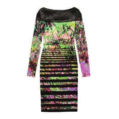pamtree patterned dress black